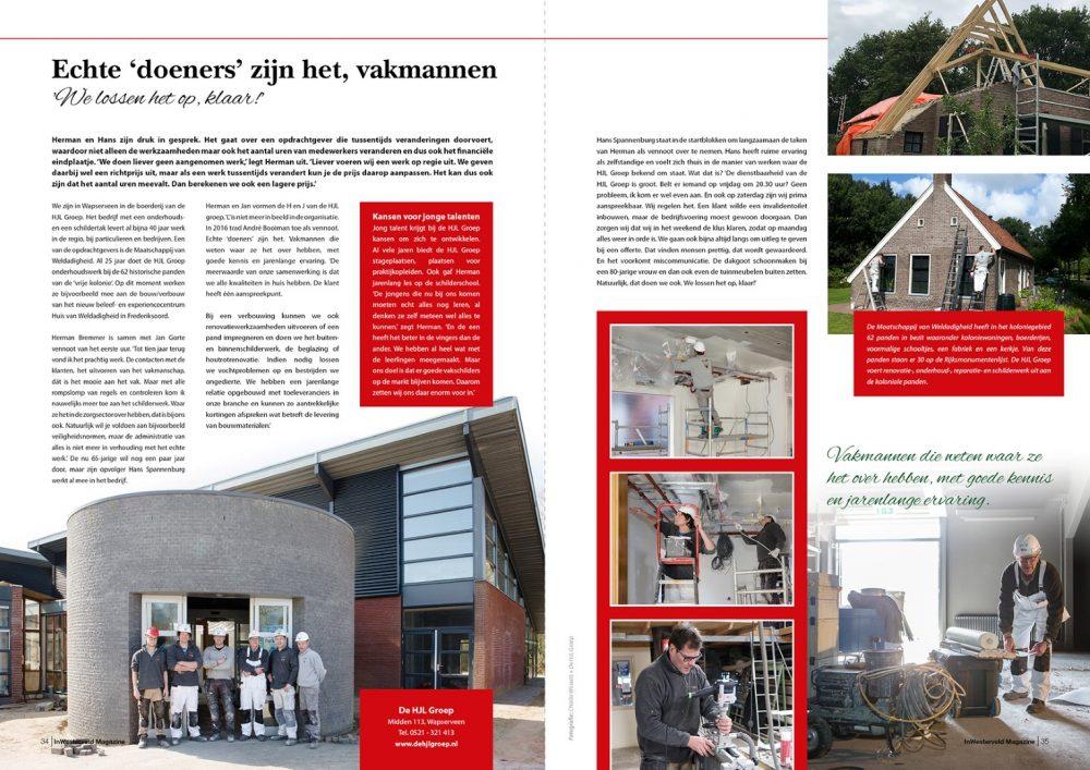 """Redactioneel """"In Westerveld"""" mei 2018 door De HJL Groep uit Wapserveen"""